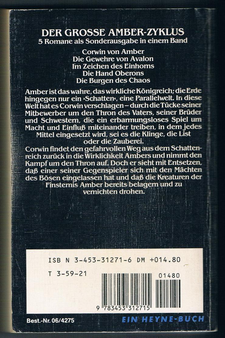 Bild 2: Die Prinzen von Amber. Fantasy-Roman von Roger Zelazny.