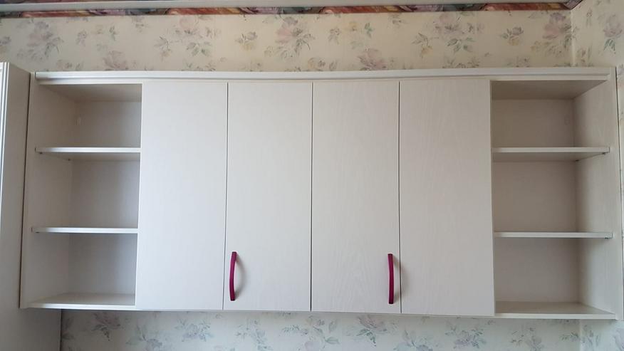 Bild 3: Kinderzimmer, Jugendzimmer weiß pink, Schränke, Schreibtisch, Bett, Rollkommode