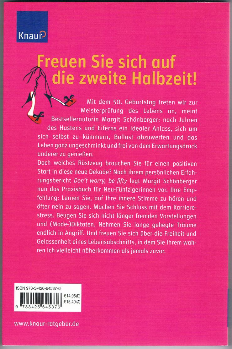 Bild 6: Don't worry, be fifty – Be happy, be fifty. 3 BÜCHER