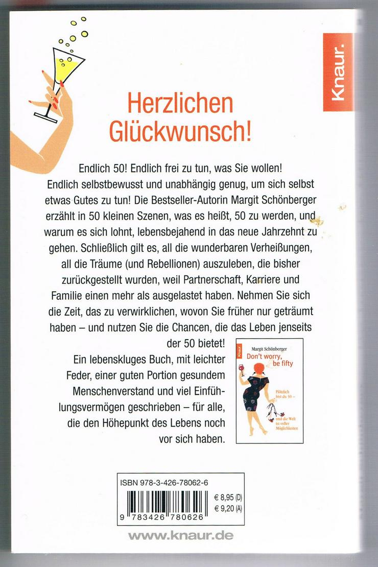 Bild 2: Don't worry, be fifty – Be happy, be fifty. 3 BÜCHER