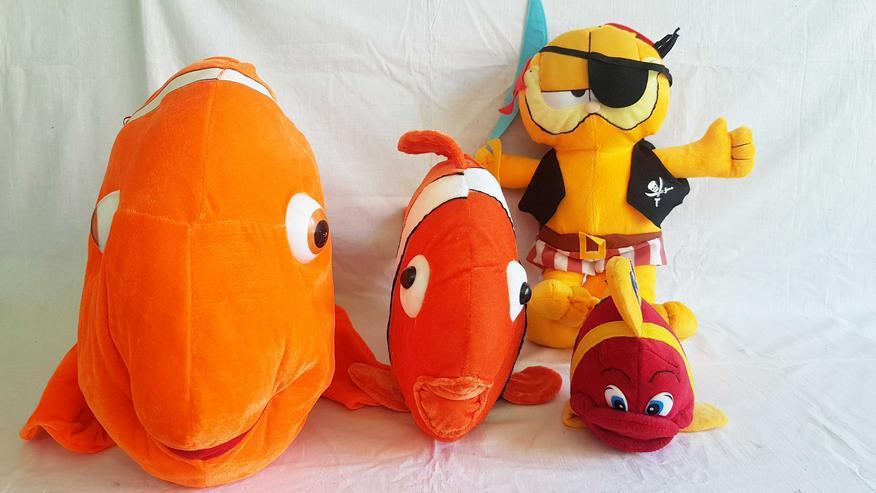 Plüschtiere  Garfield und Nemo