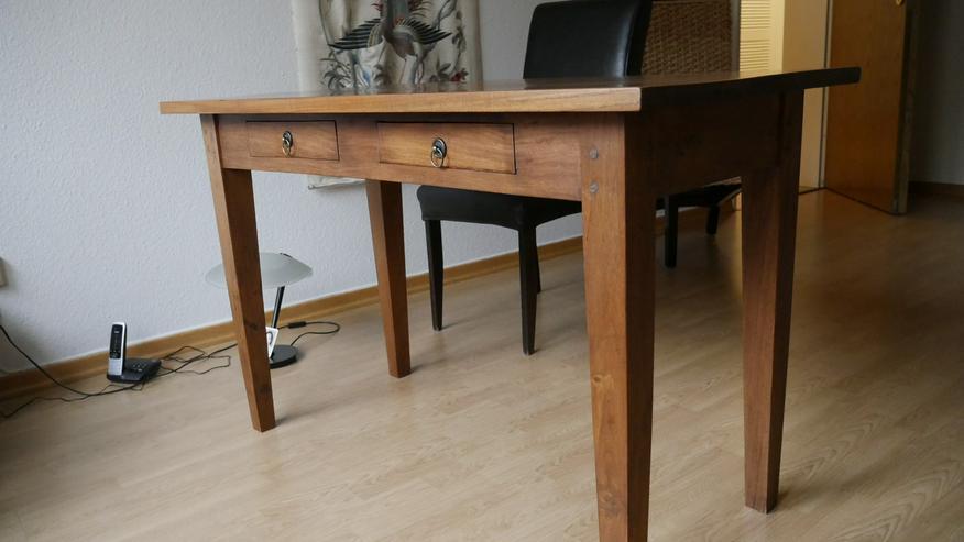 Schreibtisch Vollholz Eiche