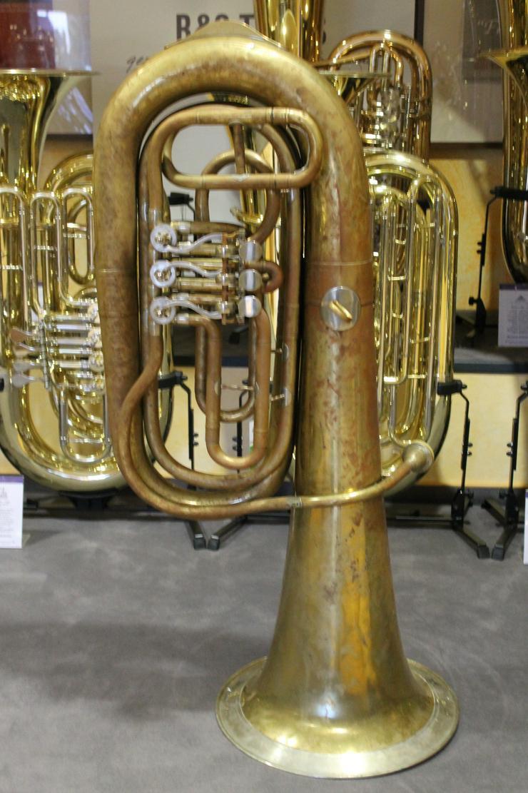 Deutsche B - Tuba, Aug. Clemens Glier Markneukirchen - Blasinstrumente - Bild 1