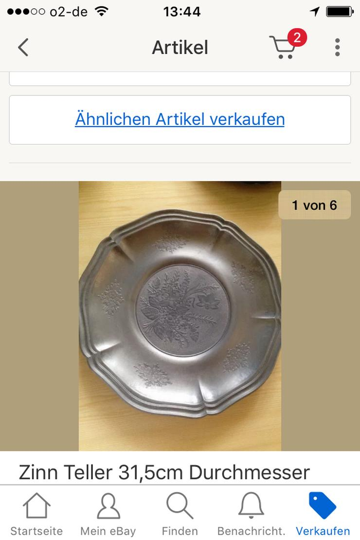 Zinn Teller 31,5cm - Aufkleber, Schilder & Sammelbilder - Bild 1
