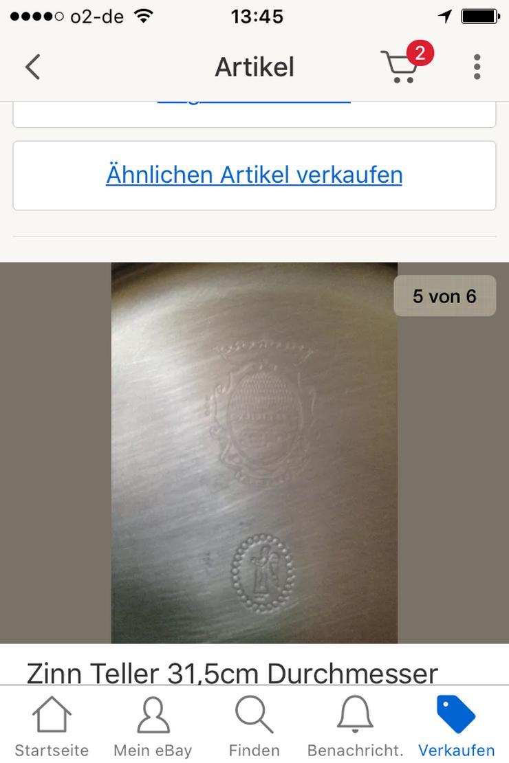 Bild 6: Zinn Teller 31,5cm