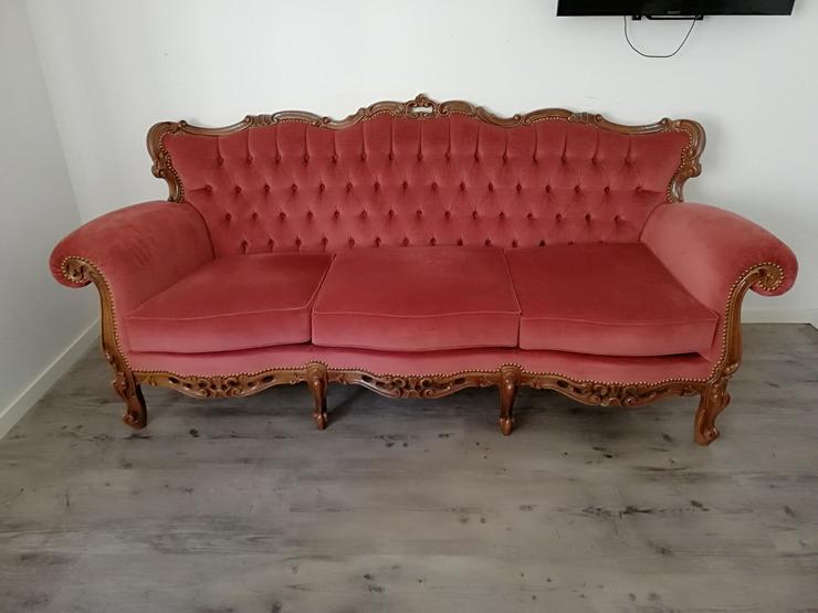 Rotes Sofa, 3 sitzer - Stühle, Bänke & Sitzmöbel - Bild 1