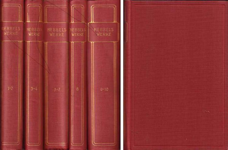 GOLDENE KLASSIKER-BIBLIOTHEK - Hebbels Klassiker - zehn Bücher in fünf Bänden