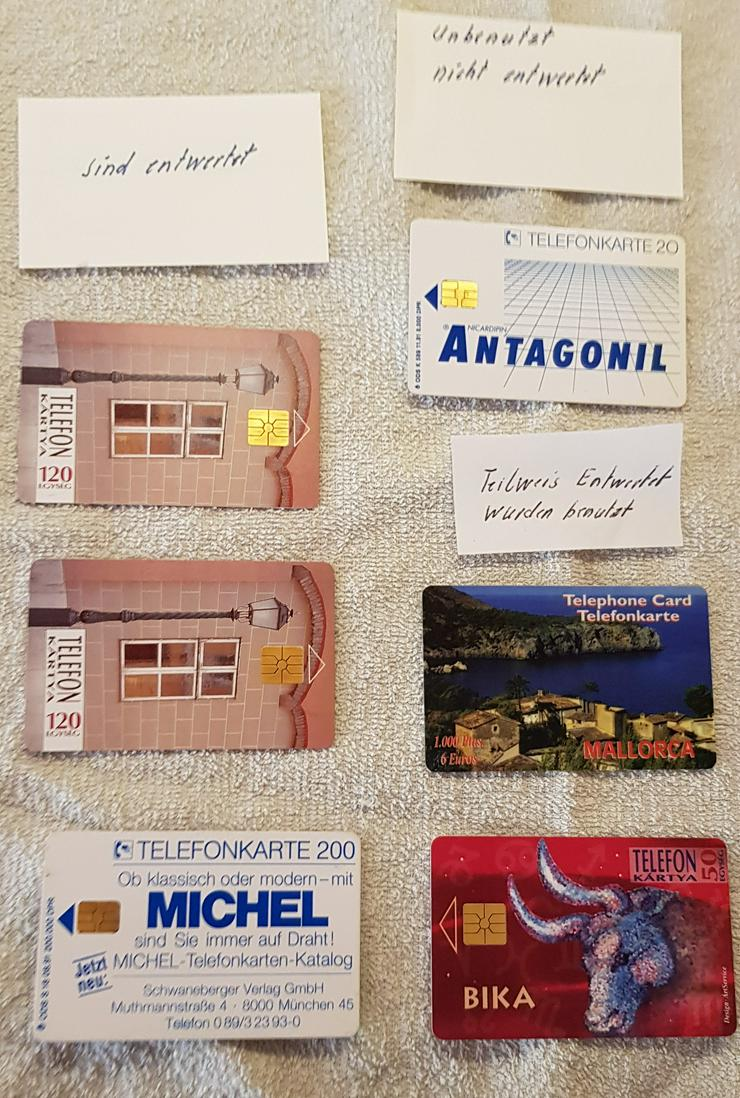 Verschiedene Telefonkarten - siehe Bild