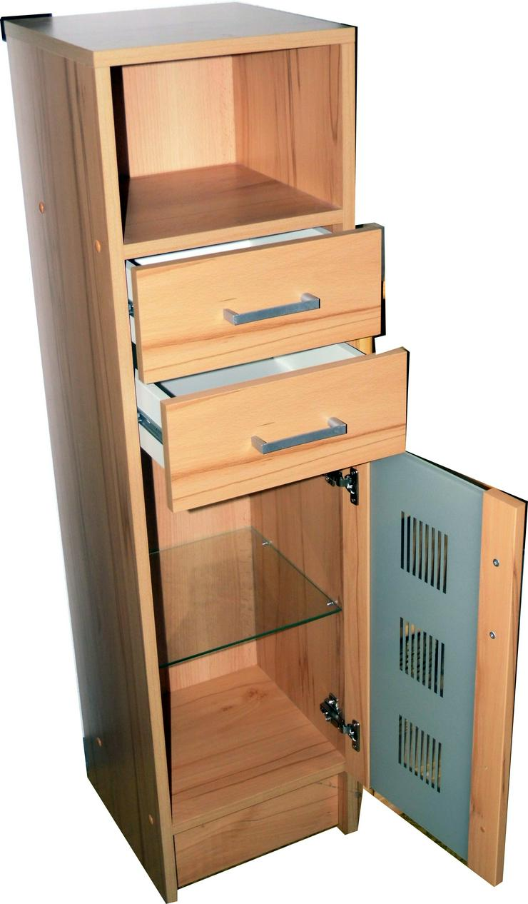 Designglasschrank mit 2 Schubladen sowie großer Glastür
