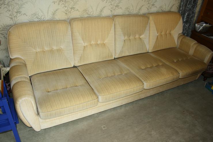 Polster-Sitzgruppe (4er Sofa und 2 x 1er Sessel) 70er-Jahre - Sofas & Sitzmöbel - Bild 1