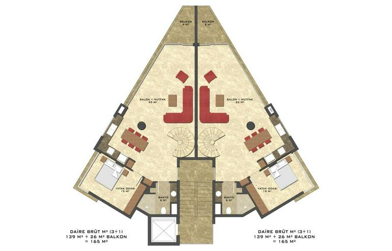 Bild 6: Türkei, Alanya, Budwig,3 Zi. Wohnung, Neubau, Erstbezug,269-3