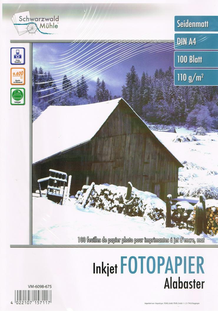 300 Blatt Fotopapier DIN A4 - Seidenmatt - 110g -