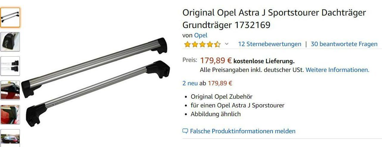 Dachgepäckträger Opel Astra Tourer