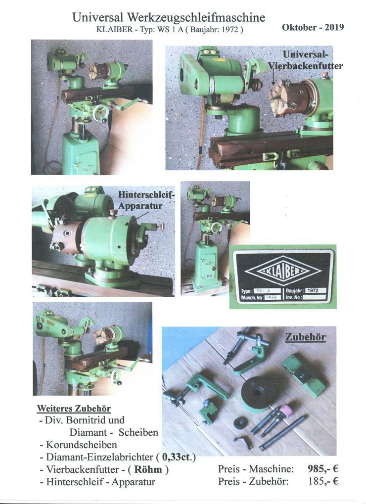Universal Werkzeugschleifmaschine - Metallverarbeitung & Fahrzeugbau - Bild 1