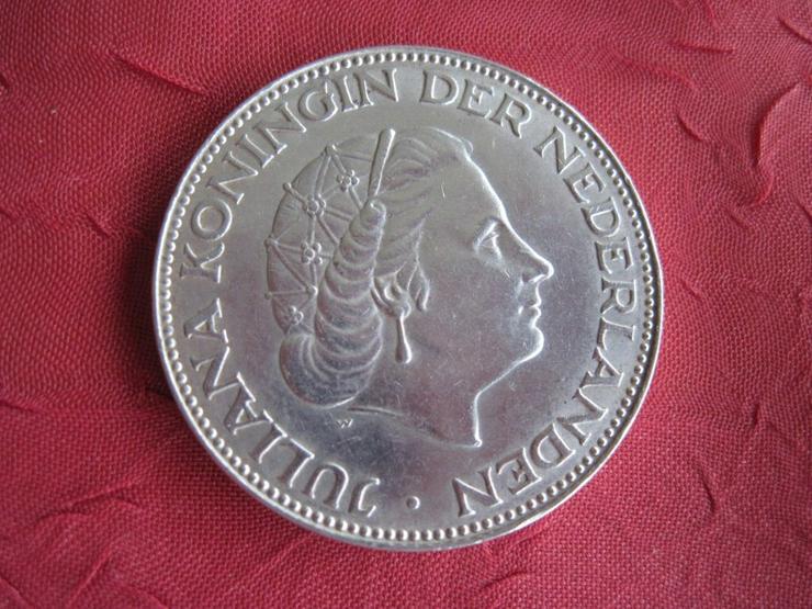 2 1/2 Gulden 1959 Niederlande Königin Juliana Silber
