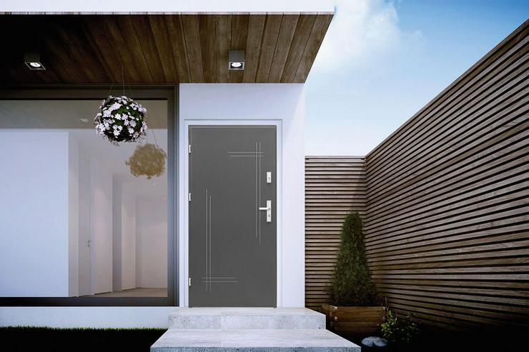 Bild 2: Tür Haustür K1 Standard Außentür Eingangstür Stahltür 80/90Breite Nuss Anthrazit