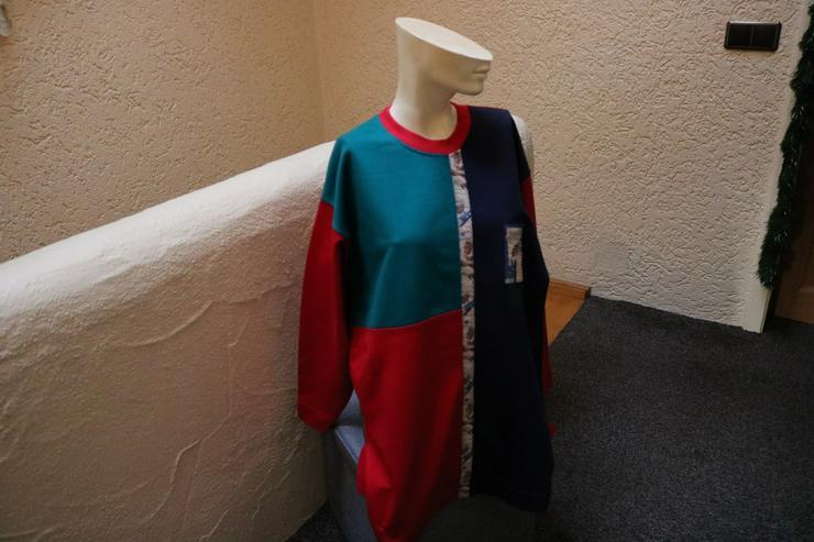 Sweatshirt, Gr. 48, Trigema, rot-blau-grün