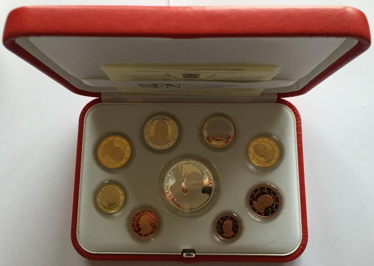 Vatikan Euro KMS Papst Franziskus PP 2015 mit 10 Euro Silber Münze - Münzen - Bild 1