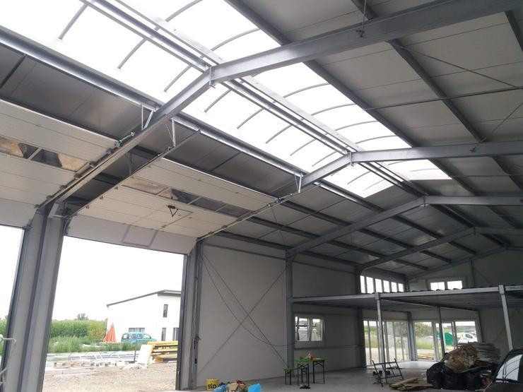 Bild 6: Stahlhalle Werkstatthalle Gewerbehalle Mehrzweckhalle mit Beurobereich 27m x 12m