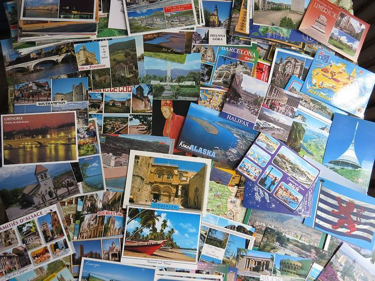 Ansichtpostkarten aus aller Welt und Reiseprospekte