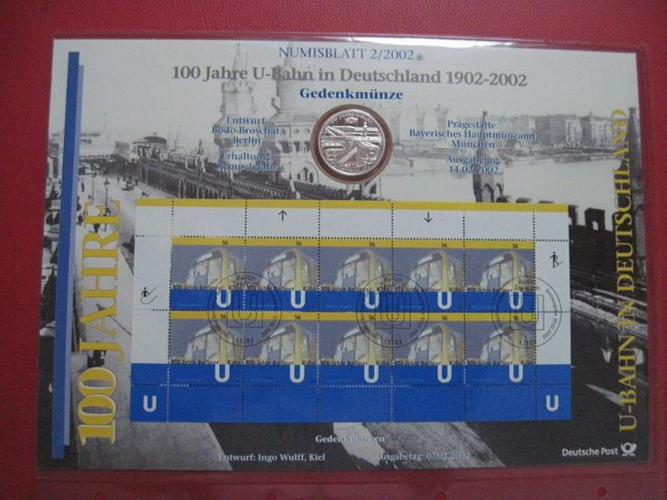 10 € Euro Gedenkmünze 925er Silber im Numisblatt 2/2002