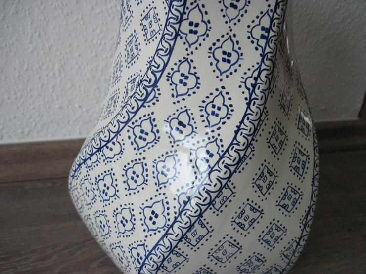 Bild 3: Italienische Vase aus Porzellan, Porzellanvase, Handarbeit