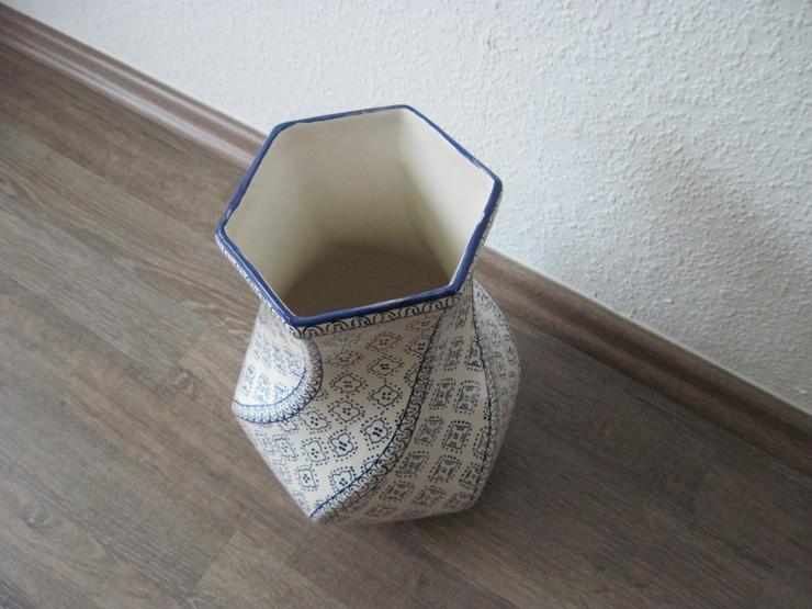 Bild 2: Italienische Vase aus Porzellan, Porzellanvase, Handarbeit