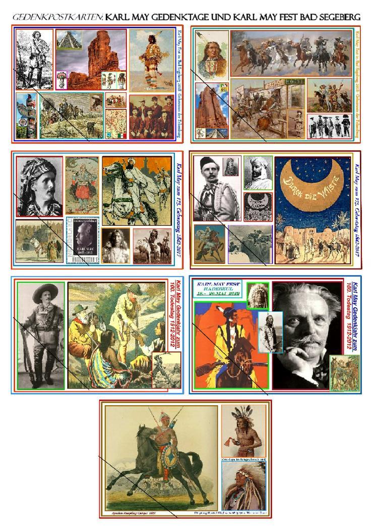 Karl May Erinnerungsausgaben - Gedenkpostkarten