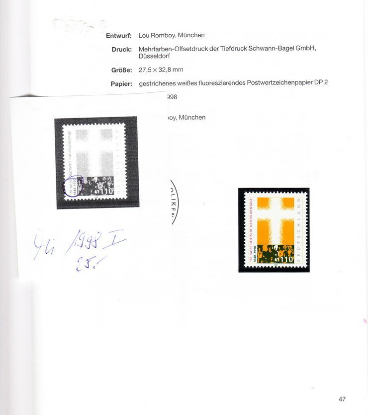Bild 3: Bund Jubiläumsjahrbuch 1998 mit Hologramm und 2 Abarten