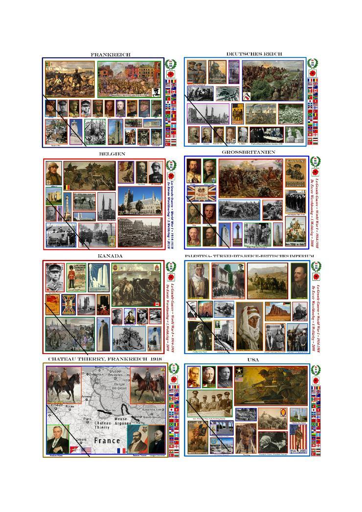 100 Jahre Beendigung des 1.Weltkrieges 1918-2018-Gedenkpostkarten