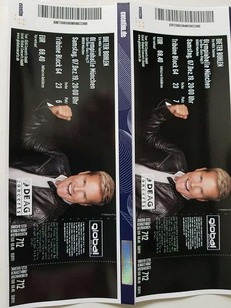 """Bild 2: 4 Tickets Dieter Bohlen """"Die Mega Tournee"""" Olympiahalle München 07.12.2019"""