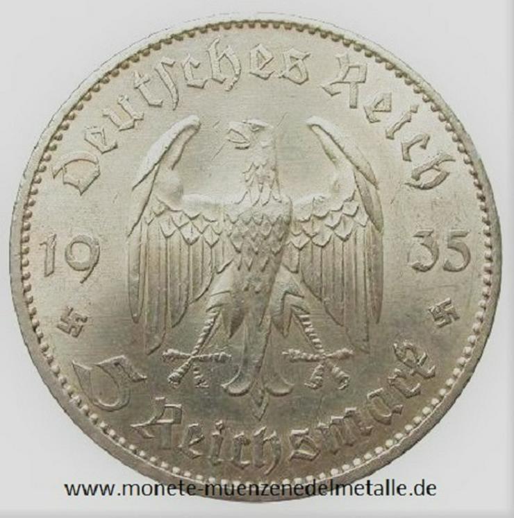 Bild 2: Deutsche Reich 5 Reichsmark 1934 Silber Münze