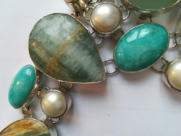 Bild 6: Halskette mit Türkis Perlen und Jaspis