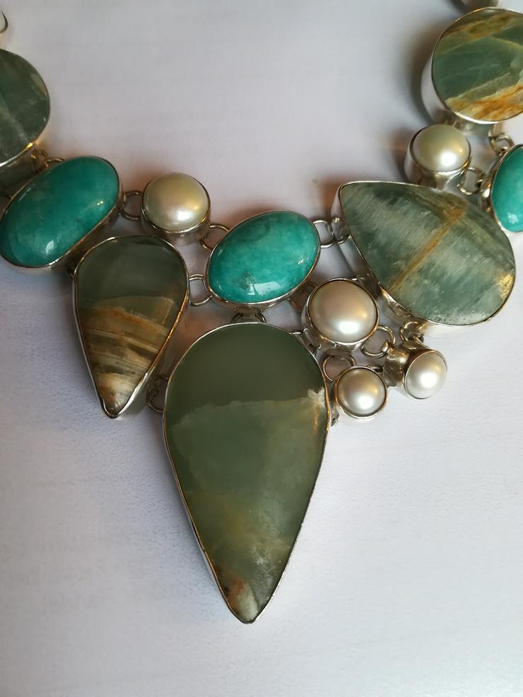 Bild 3: Halskette mit Türkis Perlen und Jaspis