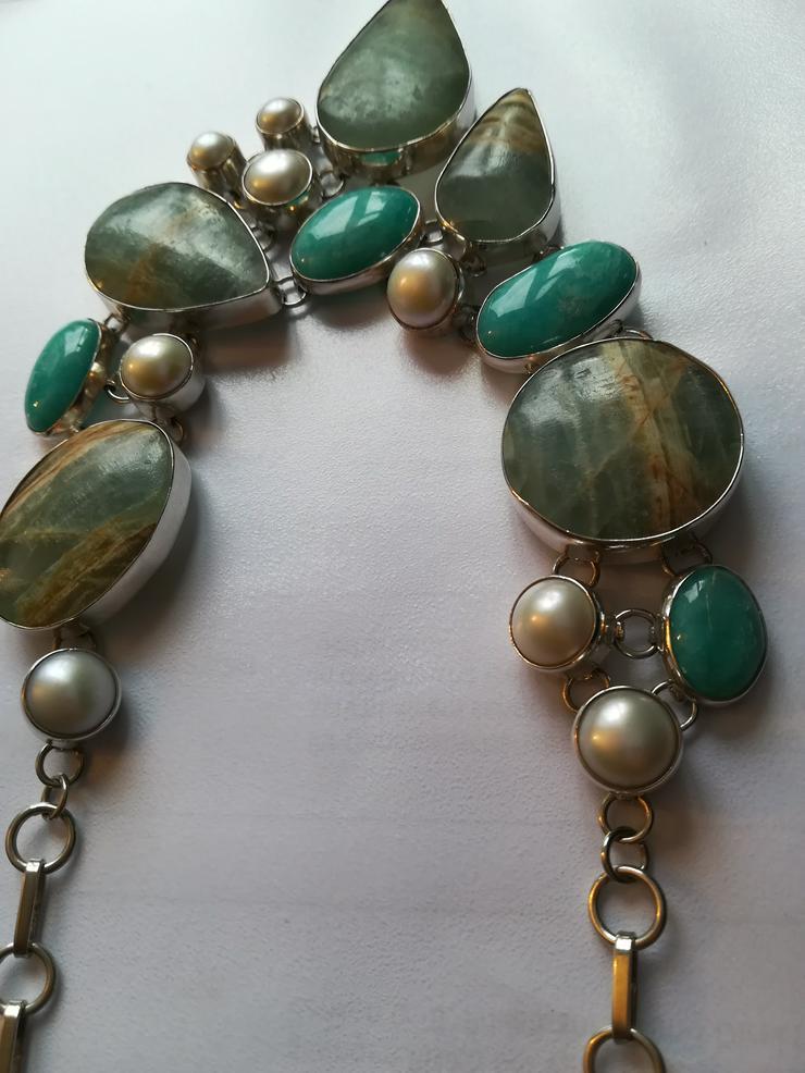 Bild 4: Halskette mit Türkis Perlen und Jaspis