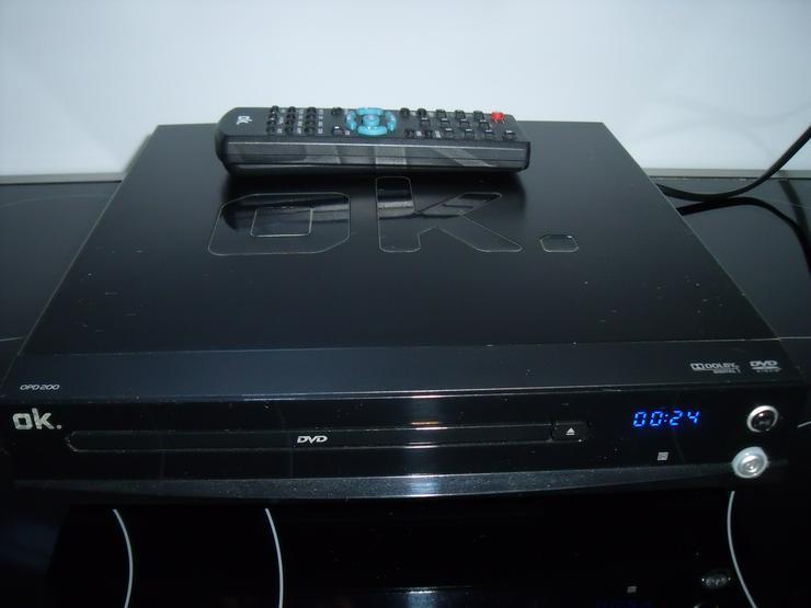 DVD-Player OK wie neu DivX, mit FB: + Geschenk