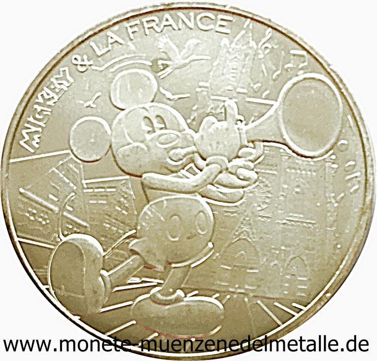 frankreich  10 Euro Mickey Maus Silber Münze  - Münzen - Bild 1
