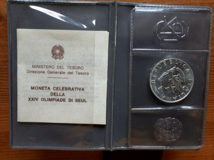Bild 2: 500 Lire Silbermünze SEOUL 1988