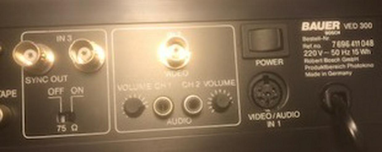 Bild 3: Bauer Bosch VED 300 Videoeditor - Bild- Tonverarbeitung -
