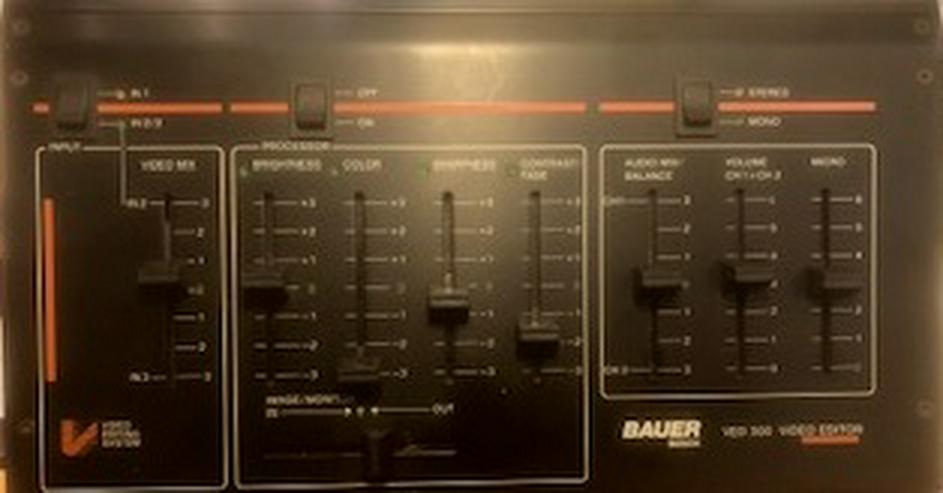 Bauer Bosch VED 300 Videoeditor - Bild- Tonverarbeitung -