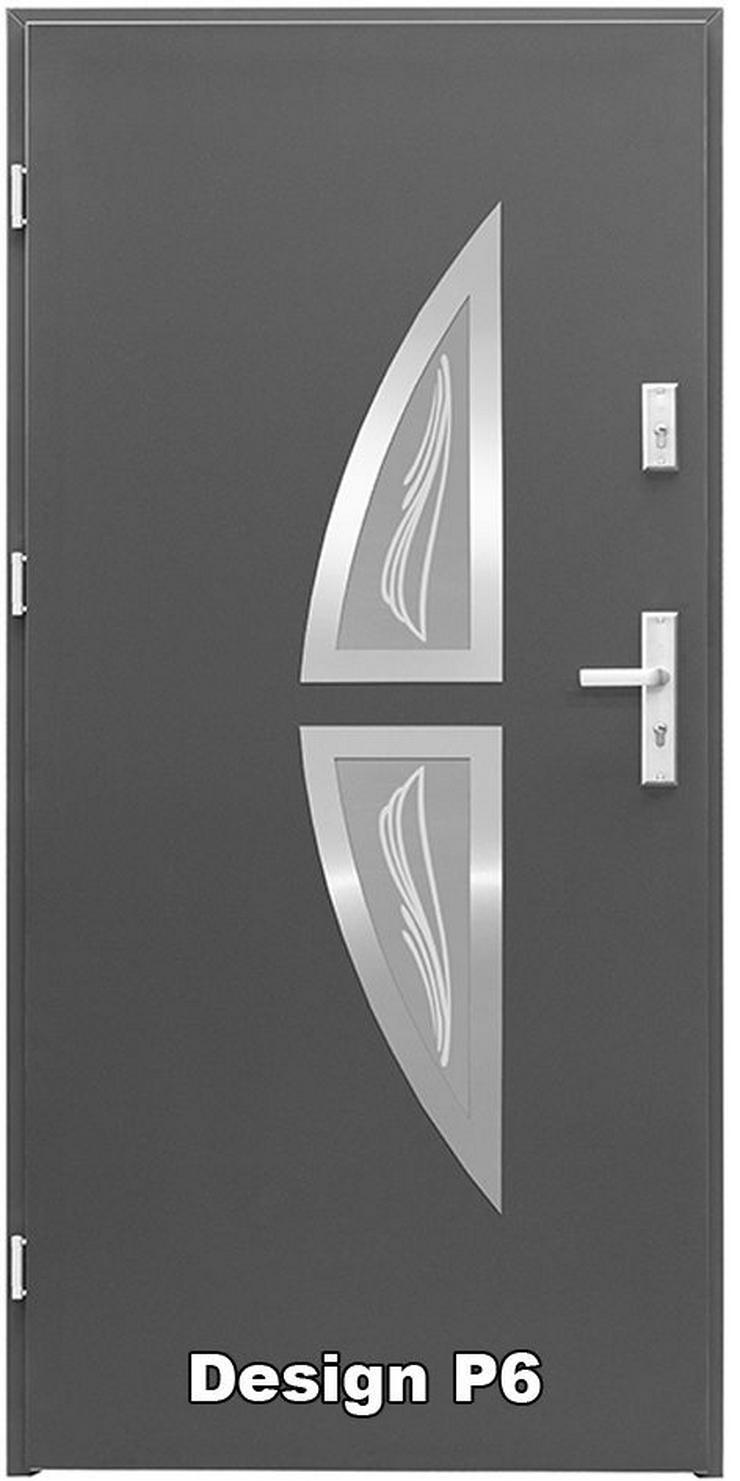 Bild 3: Tür Haustür P5/P6/P7/P8 Eingangstür Stahltür 80/90 ID Design 5 Farben weiß