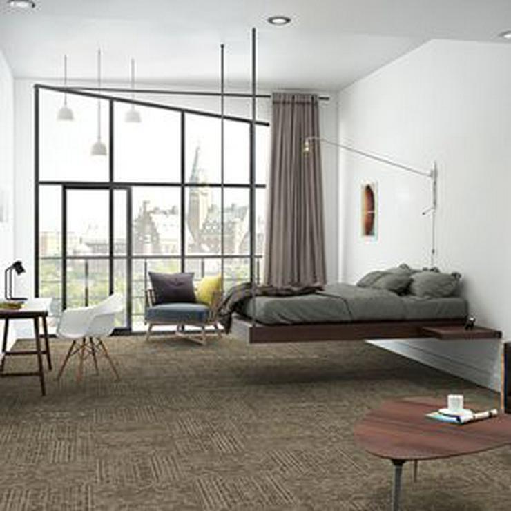 Bild 3: Schöne grüne Interface Teppichfliesen mit Motiv. Teppichboden