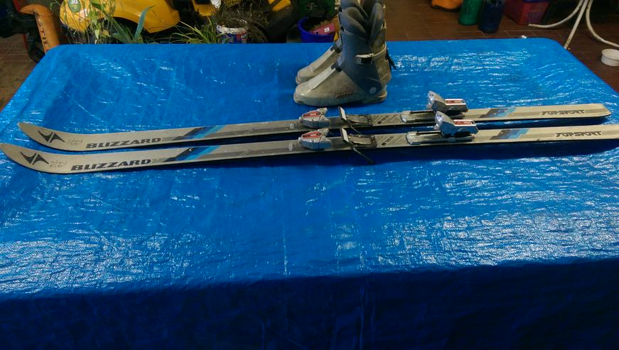 Bild 2: SKI-SET >> BLIZZARD Abfahrt Skier + Alpina Stiefel 44-46 + Stöcke