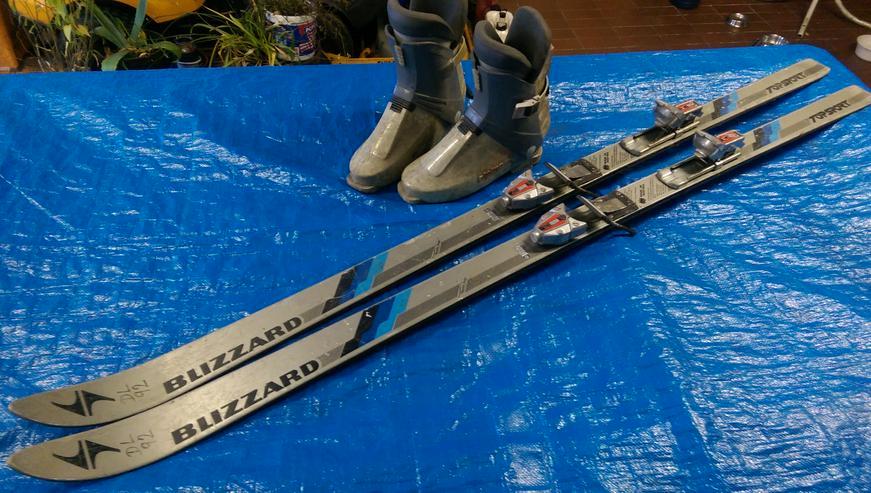 SKI-SET >> BLIZZARD Abfahrt Skier + Alpina Stiefel 44-46 + Stöcke