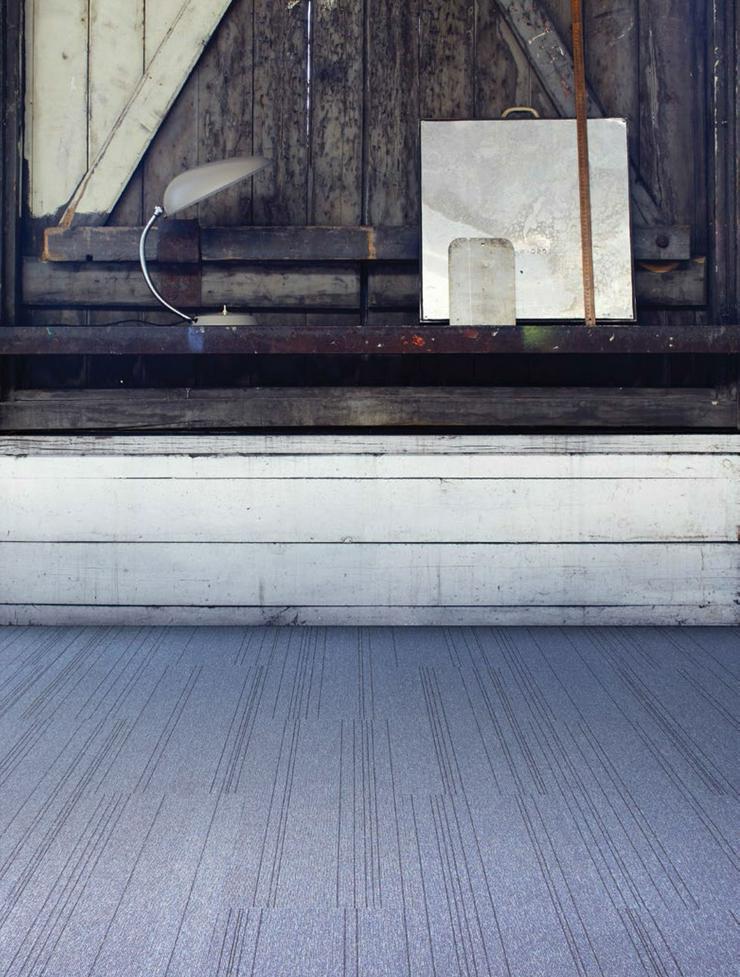 Bild 3: Blaue 'Laminat' Teppichfliesen 25 cm x 100 cm Sehr dekorativ!