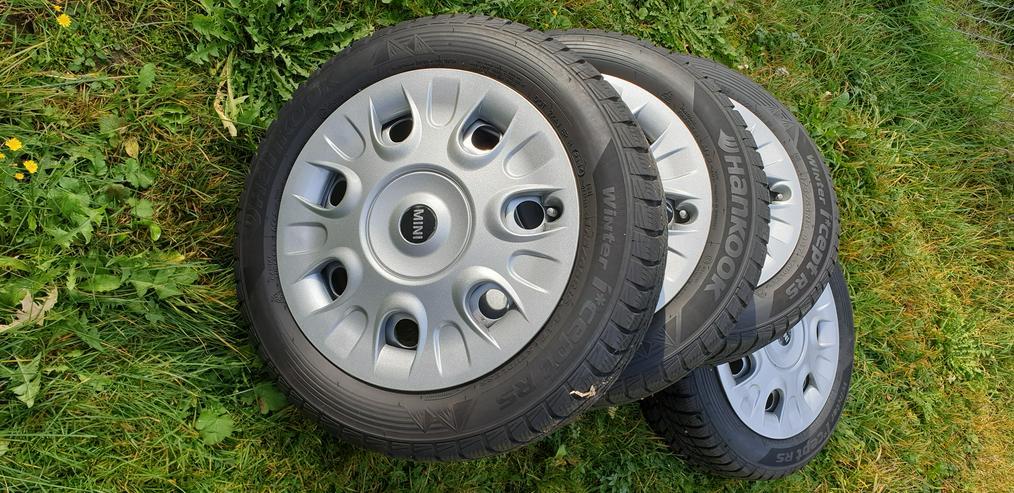Für MINI mit 4 Loch-Felgen. 4 Kompletträder Winter 175/65R15 von HANKOOK. Fast wie NEU!
