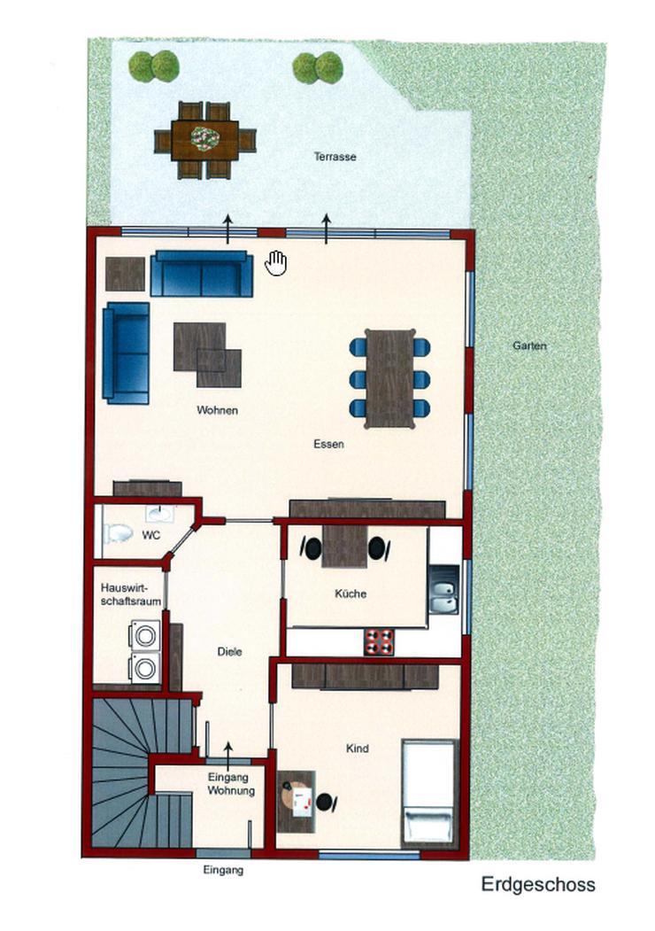 Bild 6: ETW 140qm mit gr. Garten und Terrasse über 2 Ebenen Sauna 5 Z.