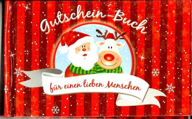 Gutschein-Buch für  den Partner im Advent / zum Nikolaus / zur Weihnachtszeit / zum Weihnachtsfest / unterm Tannenbaum für Freund oder Freundin !