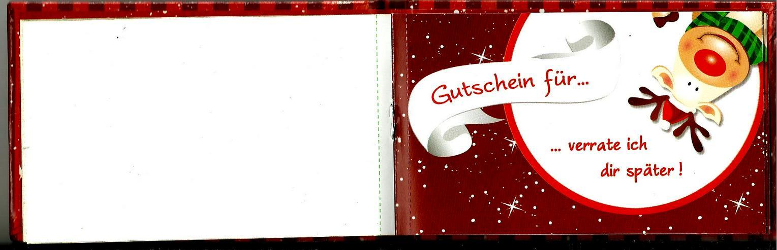 Bild 2: Gutschein-Buch für  den Partner im Advent / zum Nikolaus / zur Weihnachtszeit / zum Weihnachtsfest / unterm Tannenbaum für Freund oder Freundin !