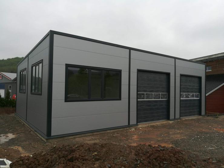 Bild 2: Stahlhalle Werkstatthalle Lager Logistikhalle Gewerbehalle 17,5m x 12m